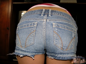 perfect teen ass pov tight jean shorts