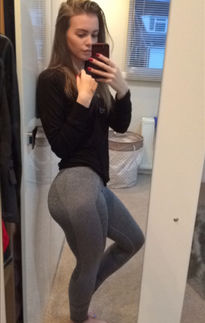 Perfect Ass Selfie in Spandex Yoga Pants