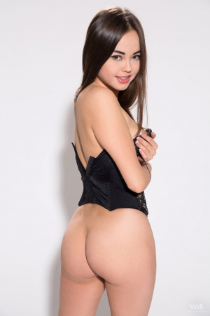 Big Ass Asian Teen in a Tight Corset