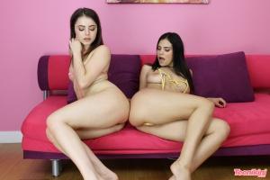 String Bikini Teens with Fat Bubble Butts