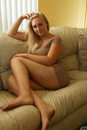 Stunning Blonde Amateur with Thick Thighs