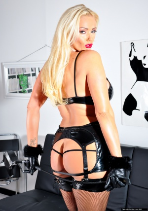Big Ass MILF in Fishnet Stockings and Latex Lingerie