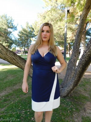 Curvy Teen Plumper in a Tight Dress