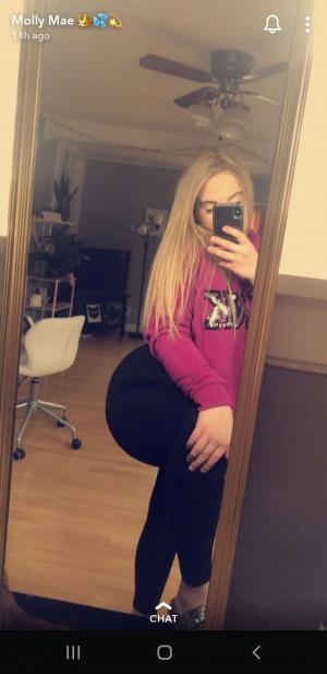 Thick White Girl Snapchat Selfie