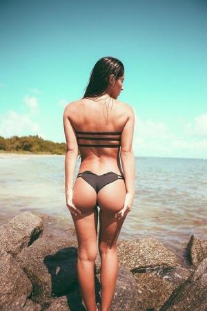 Tight Ass Brunette Bikini Babe